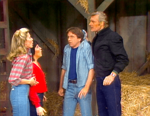 Three's Company Episode: Urban Plowboy (Jack chased at Cindy's farm)