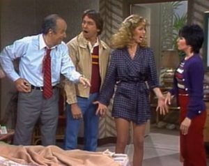 Three's Company Episode: The Case of the Missing Blonde (Cindy with her father)