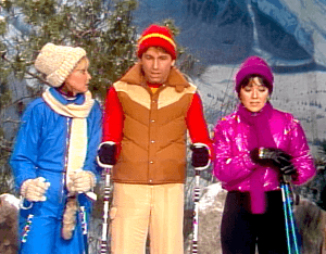 Three's Company Episode: Downhill Chaser (Jack skiing down mountain)