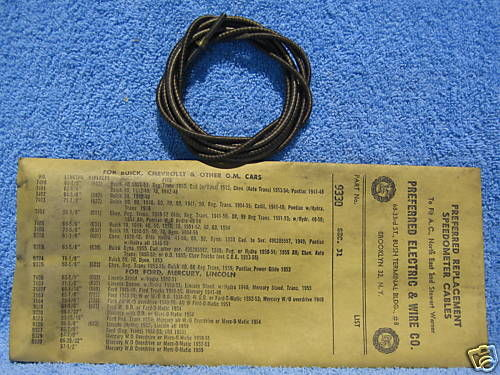 1952 53 Mercury Speedometer Cable NORS