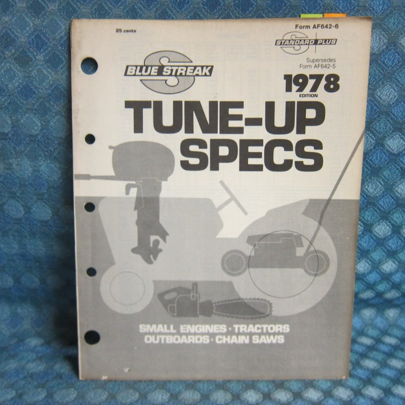 1965-78 Original Small Eng. Marine Chain Saw Tune Up Specs Oliver Ford Clinton