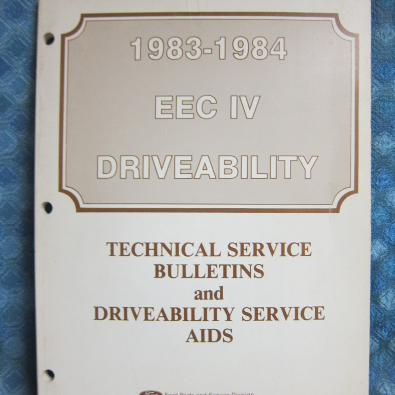 1983-84 Ford Lincoln Mercury EEC IV Driveability Service Bulletins Manual