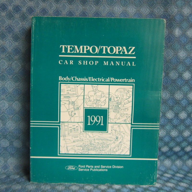 1991 Ford Tempo Mercury Topaz Original Service Shop Manual