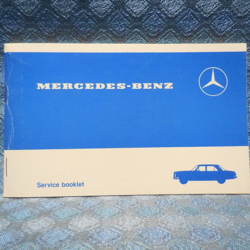 1960-83 Mercedes-Benz Service Booklet Special USA Edition for 100K Mile vehicles