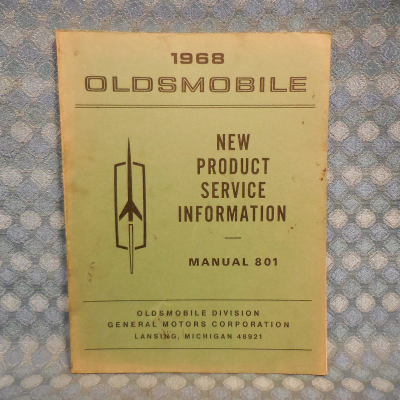 1968 Oldsmobile Original New Product Information Manual