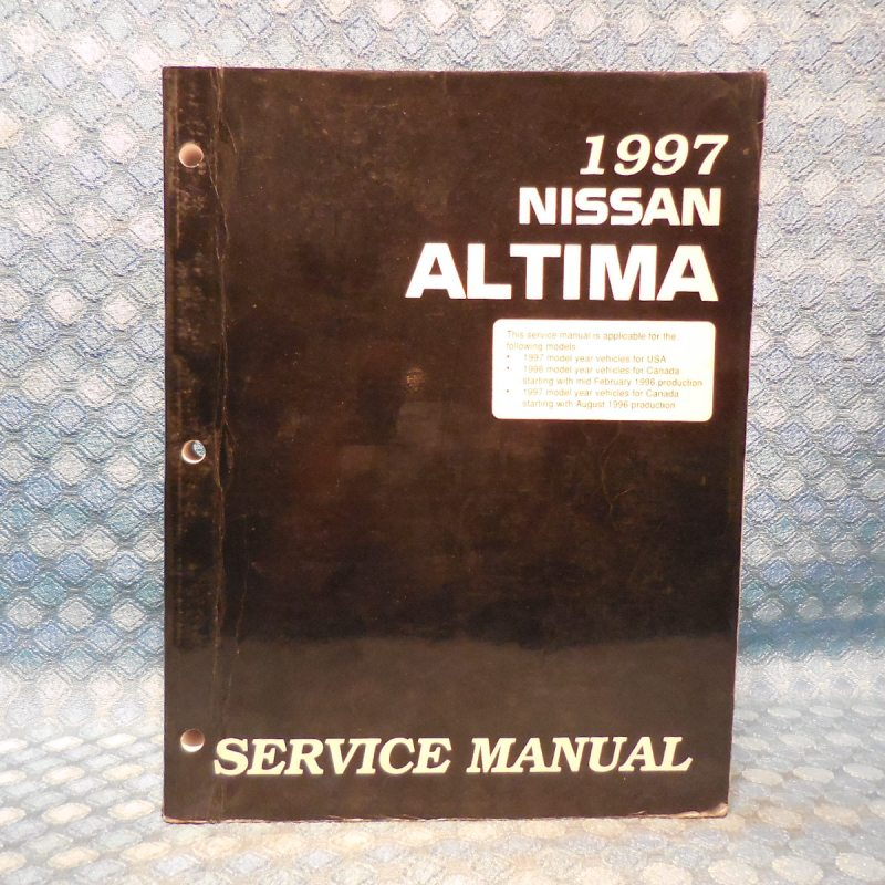 1997 Nissan Altima Original OEM Service Manual USA & Canada Edition