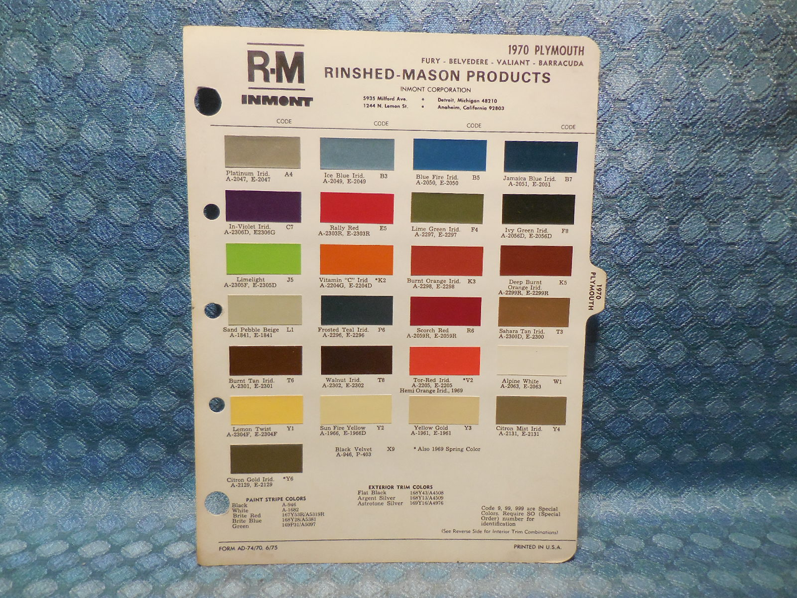 2371063 1970 Plymouth Belvedere Wiring Diagram Color Wiring Library