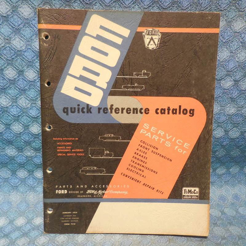1950 - 1956 Ford Pass Cars & Trucks Original Quick Reference Parts Catalog
