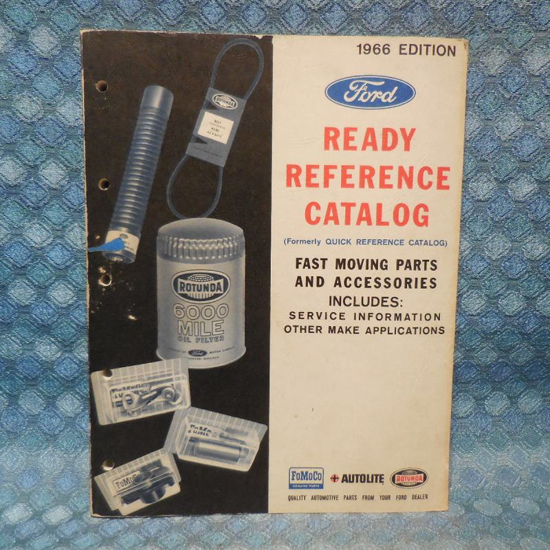 1957 - 1966 Ford Original Ready Reference Parts & Service Info Catalog 64 62 60
