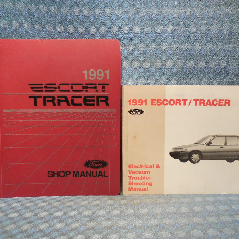 1991 Escort & Tracer Original Shop Manual + Electrical & Vacuum Troubleshooting