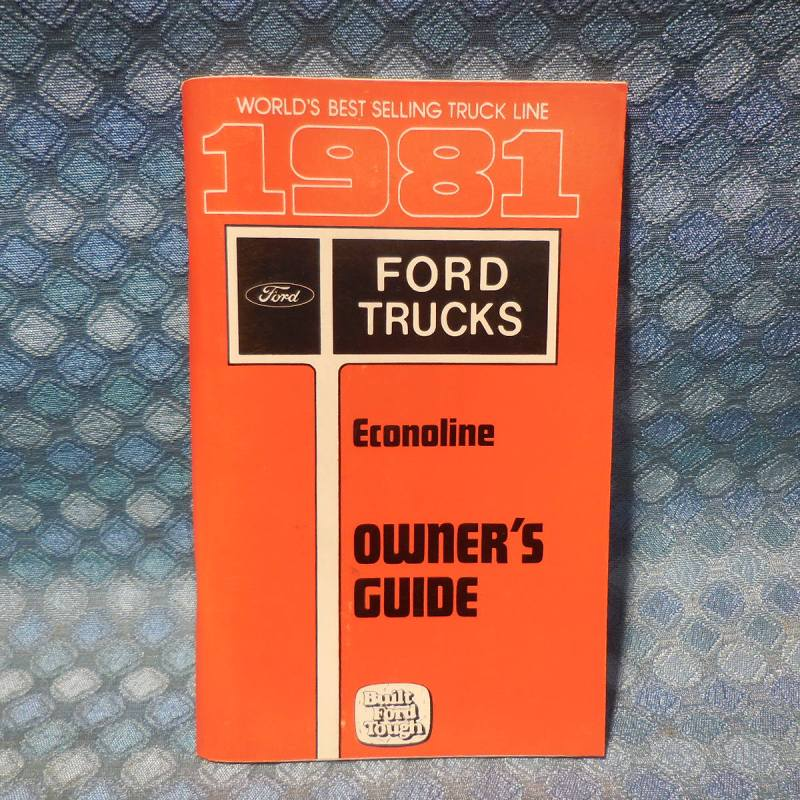 1981 Ford Econoline Van NOS Owners Manual Guide