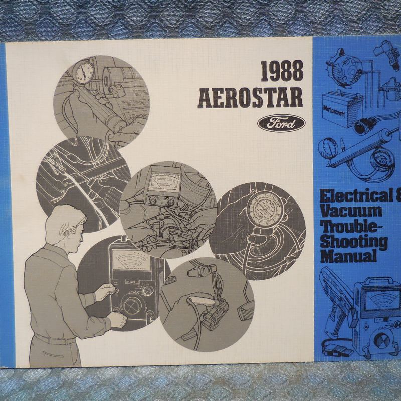 1988 Ford Aerostar Original Electrical & Vacuum Troubleshooting Manual