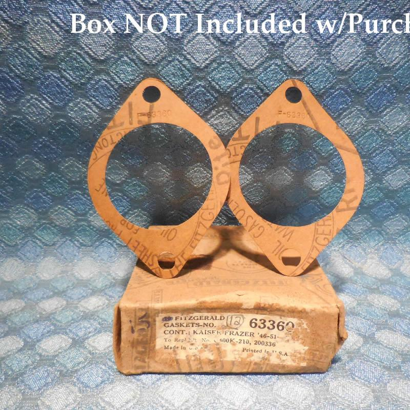 1946-1951 Kaiser Frazer Pair of NORS Water Outlet Connection Gaskets 47 48 49 50