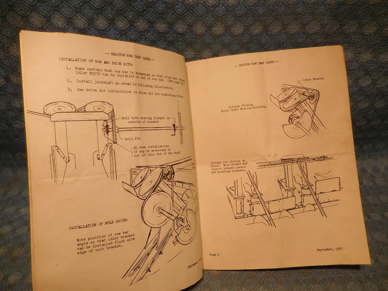 Hesston Wiring Diagram Library Maserati Tc Fuse Box Location 1957 Row Crop Saver Original Owners Manual
