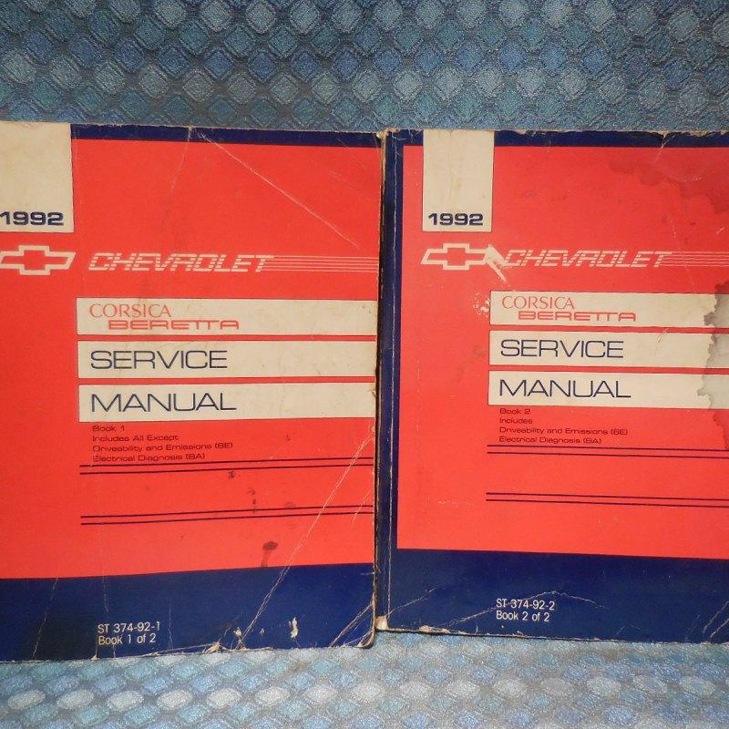 1992 Chevrolet Beretta & Corsica Original OEM Shop Service Manual 2 Volume Set