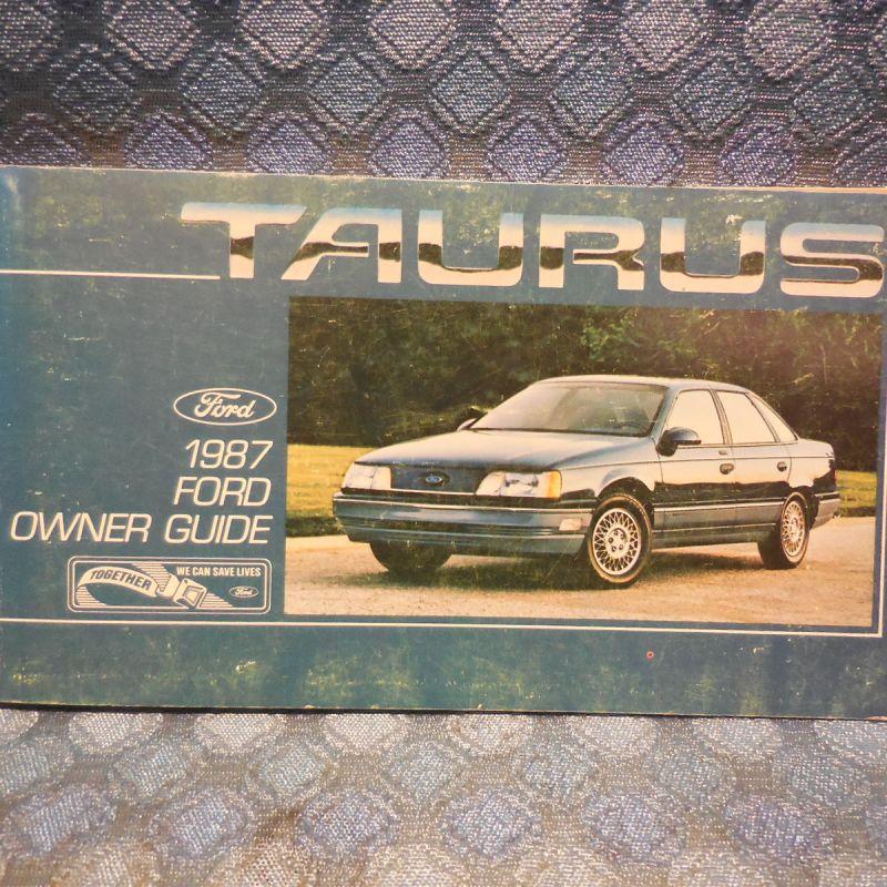 1987 Ford Taurus Original Owners Manual / Guide