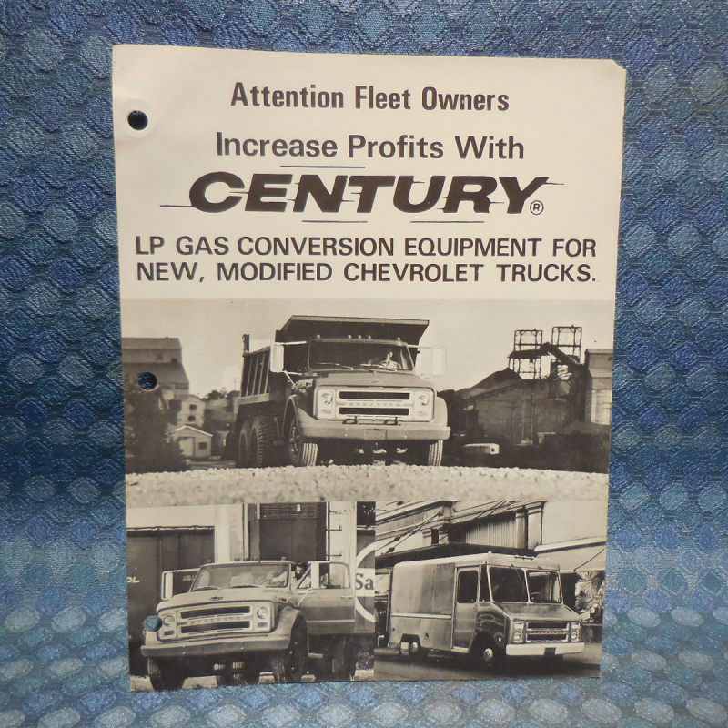 1969-1970 Chevrolet Truck Original Century LP Gas Conversion Sales Catalog
