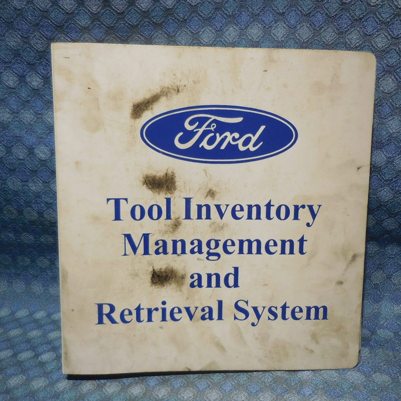 1997-2001 Ford Lincoln Dealer Tool Inventory Management & Retrieval System Book