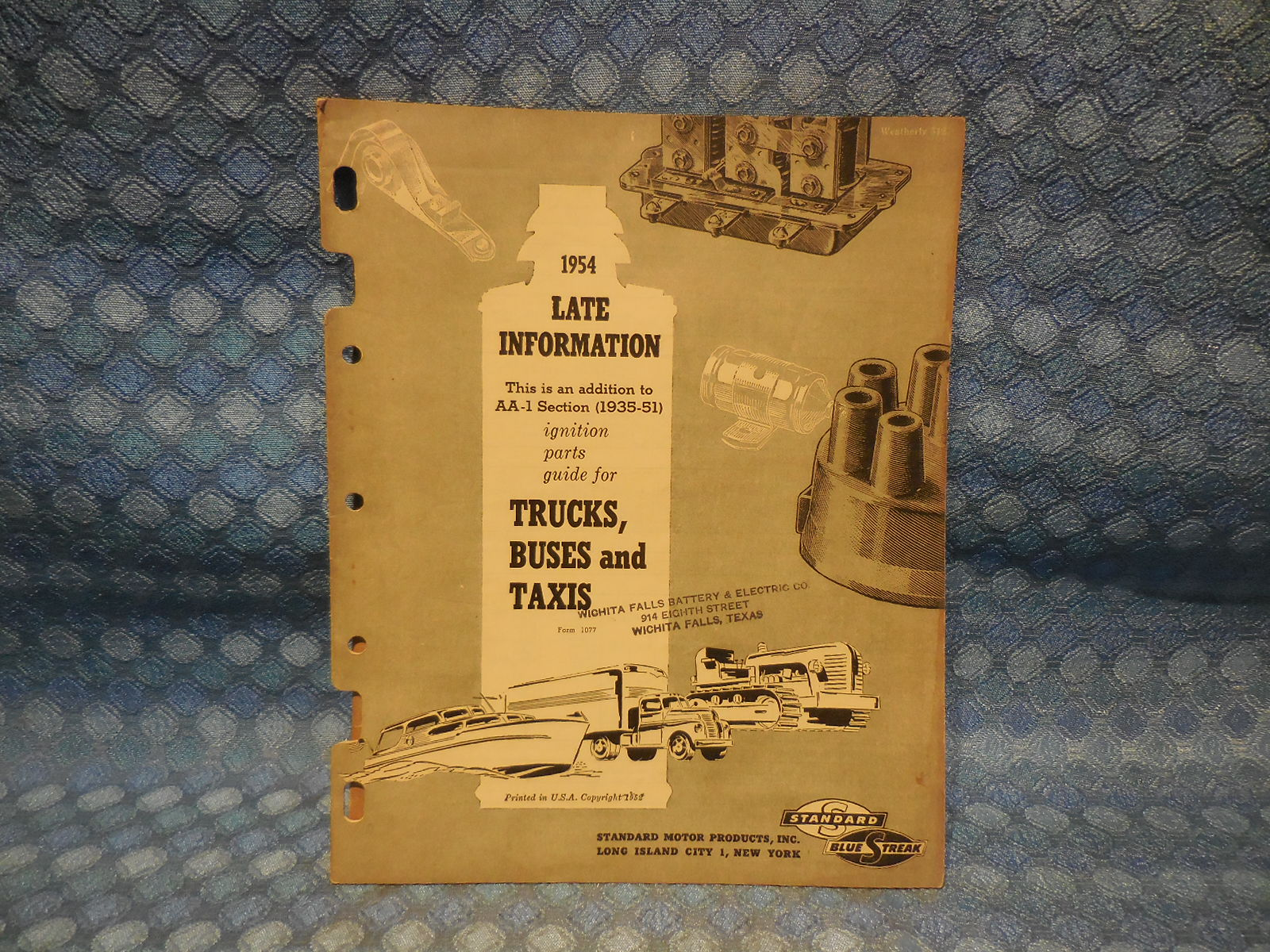 1951 Reo Wiring Diagram Another Blog About 1935 Ford Ignition 1954 Blue Streak Original Truck Parts Catalog Gmc Rh Nostexasparts Com