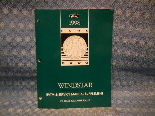 1998 Ford Windstar OEM EVTM & Service Manual Supplement