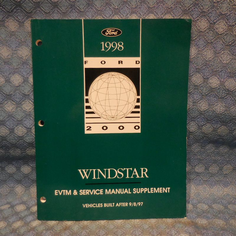1998 Ford Windstar OEM EVTM & Service Manual Supplement
