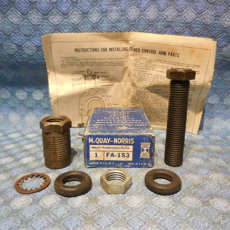 1947-1953 Kaiser & Frazer NORS Lower Control Arm Outer Shaft Kit 48 49 50 51 52