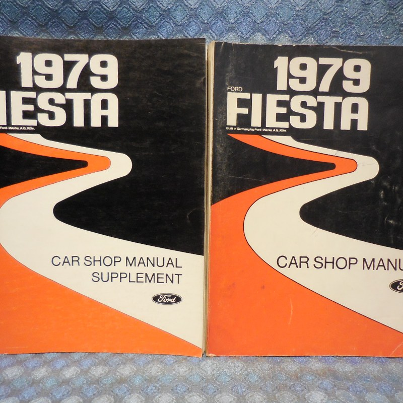 1979 Ford Fiesta OEM Original Shop Manual With Supplement - 2 Volume Set