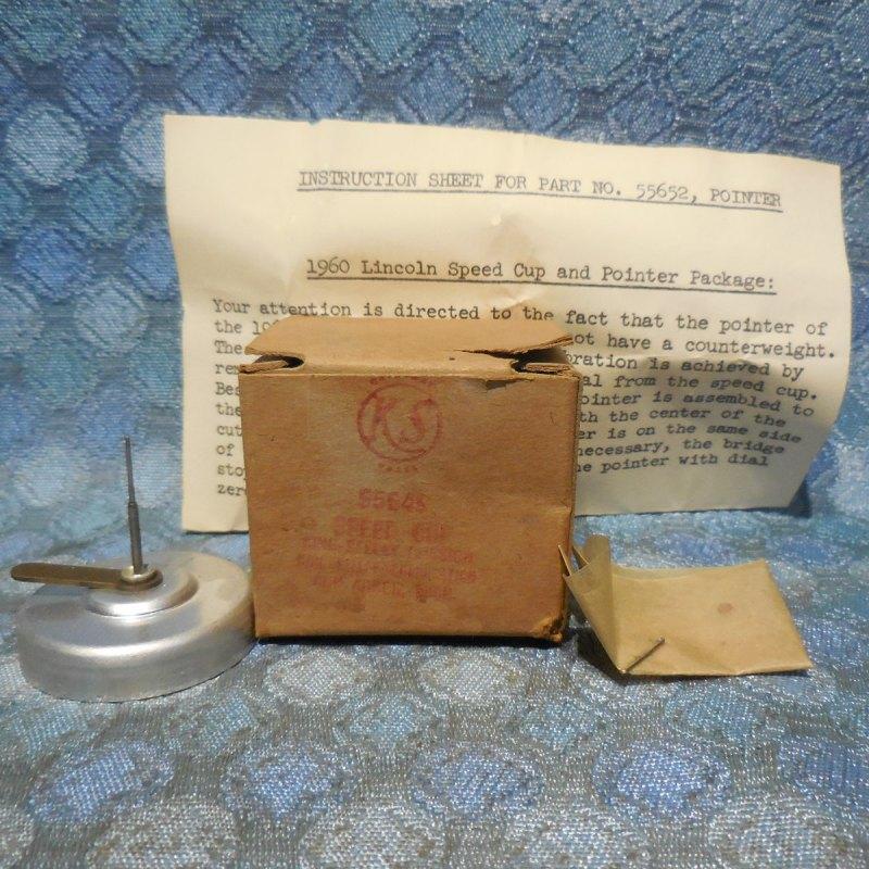 1960 Mercury NOS King Seeley Speedometer Speed Cup # 55649