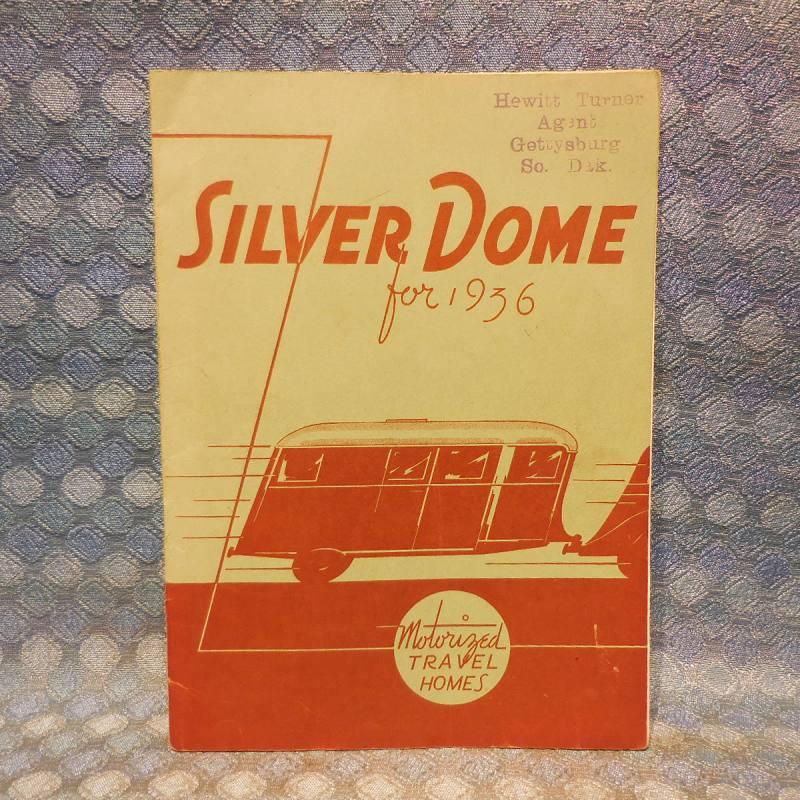 1936 Silver Dome Travel Trailer Original Sales Book - Complete Line