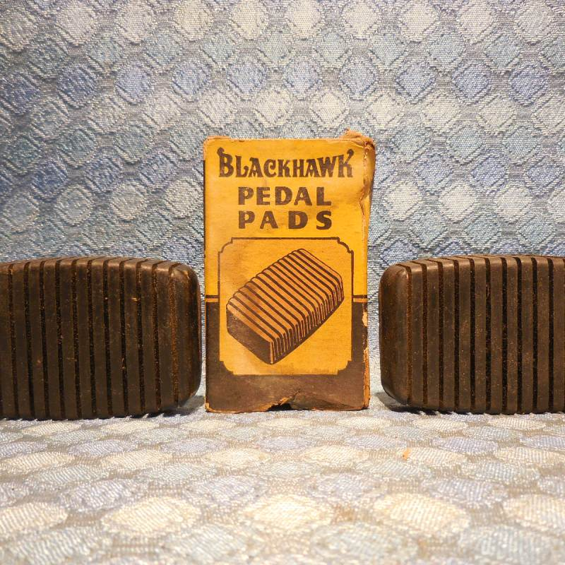 1935-1946 Pontiac NORS Brake & Clutch Black Pedal Pads 36 37 38 39 40 41 42