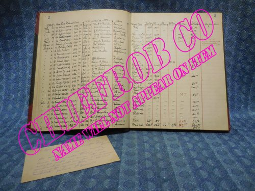1928-1929 Whippet Original Dealer Record Book with Prices & Trade in Information