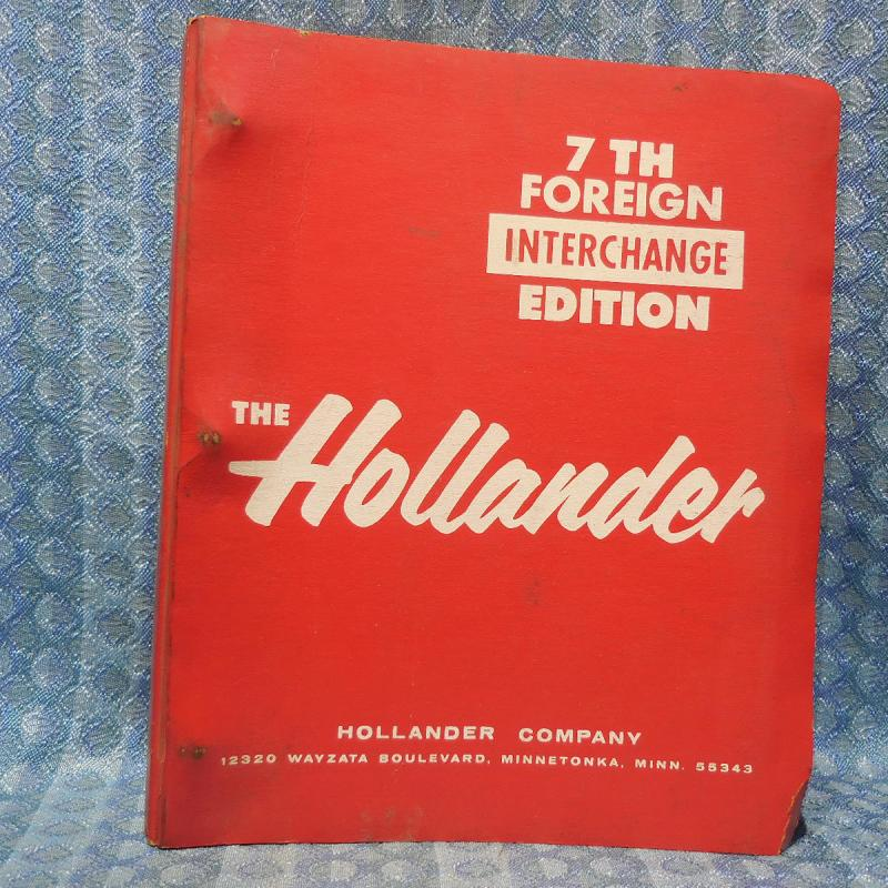 1965-1982 Foreign Car Hollander Interchange Manual 7th Edition 67 69 71 73 75 77
