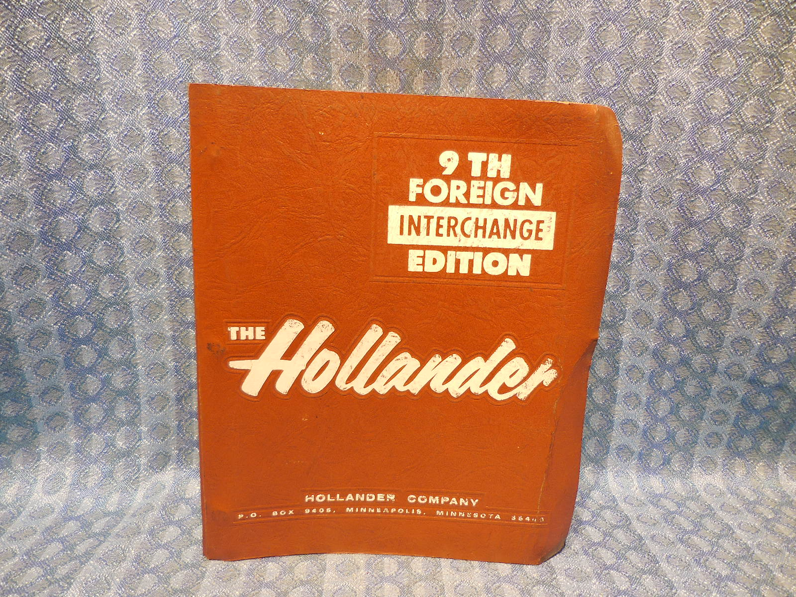 1970-1985 Foreign Car Hollander Interchange Manual 9th Edition 72 74 76 78  80