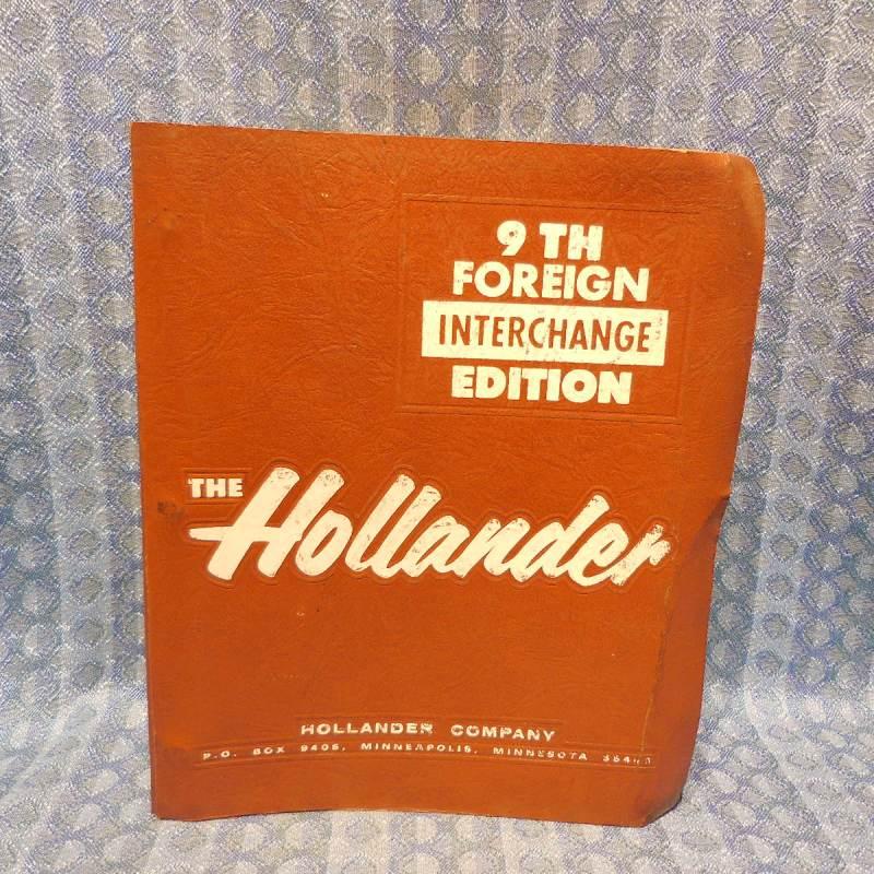 1970-1985 Foreign Car Hollander Interchange Manual 9th Edition 72 74 76 78 80