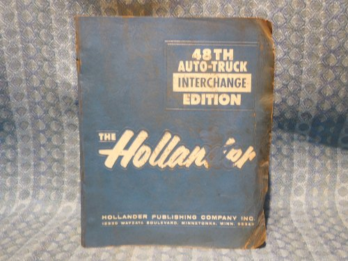 1971-1982 Original Hollander Interchange Manual GM Ford Mopar AMC 1973 75 77 79