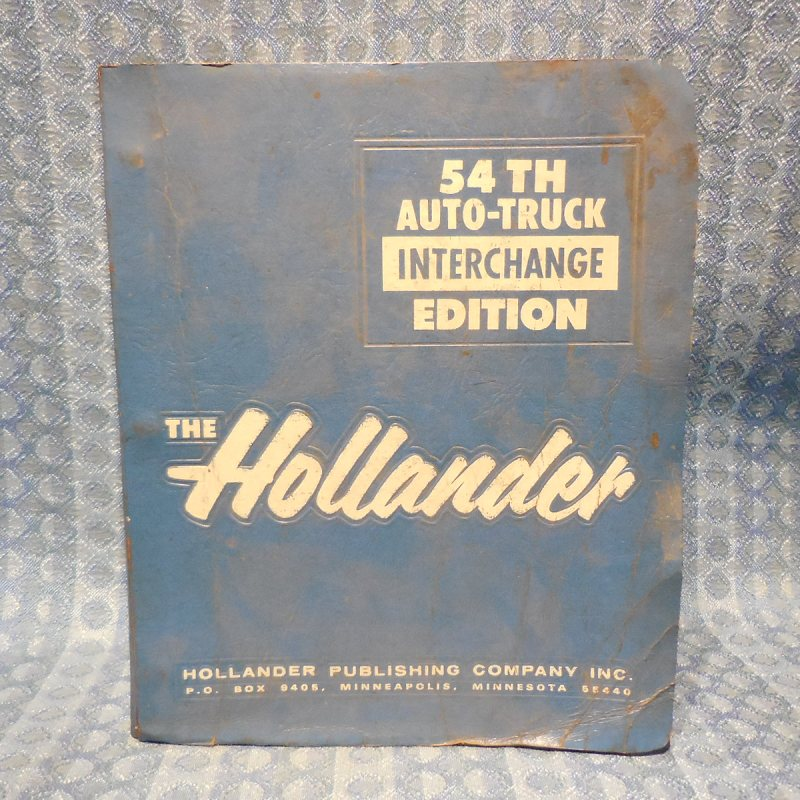 1975-1987 Original Hollander Interchange Manual GM Ford Mopar AMC 1977 79 81 83