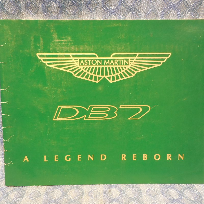 "1996 Aston Martin DB7 ""A Legend Reborn"" Original Sales & History Booklet"