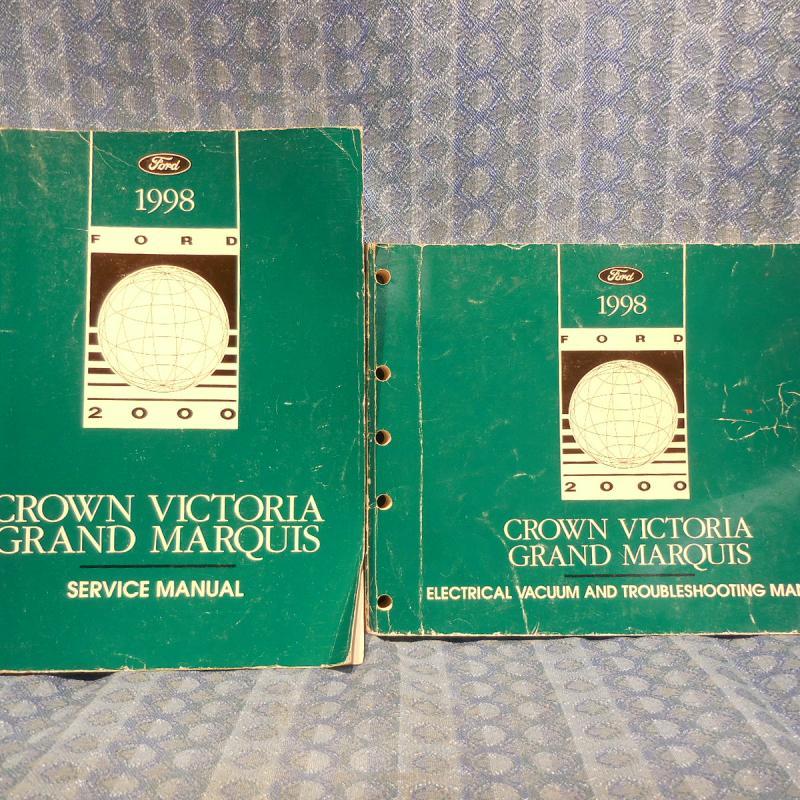 1998 Crown Victoria Grand Marquis Original OEM Shop Service Manual 2 Volume Set