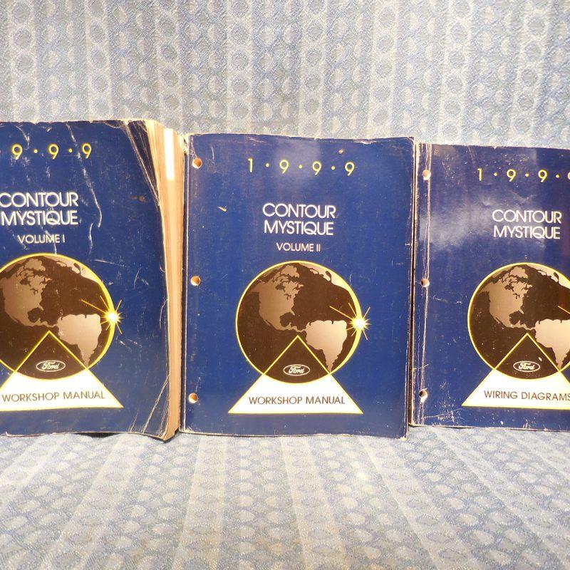 1999 Ford Contour / Mercury Mystique OEM Set of 3 Original Workshop Manuals