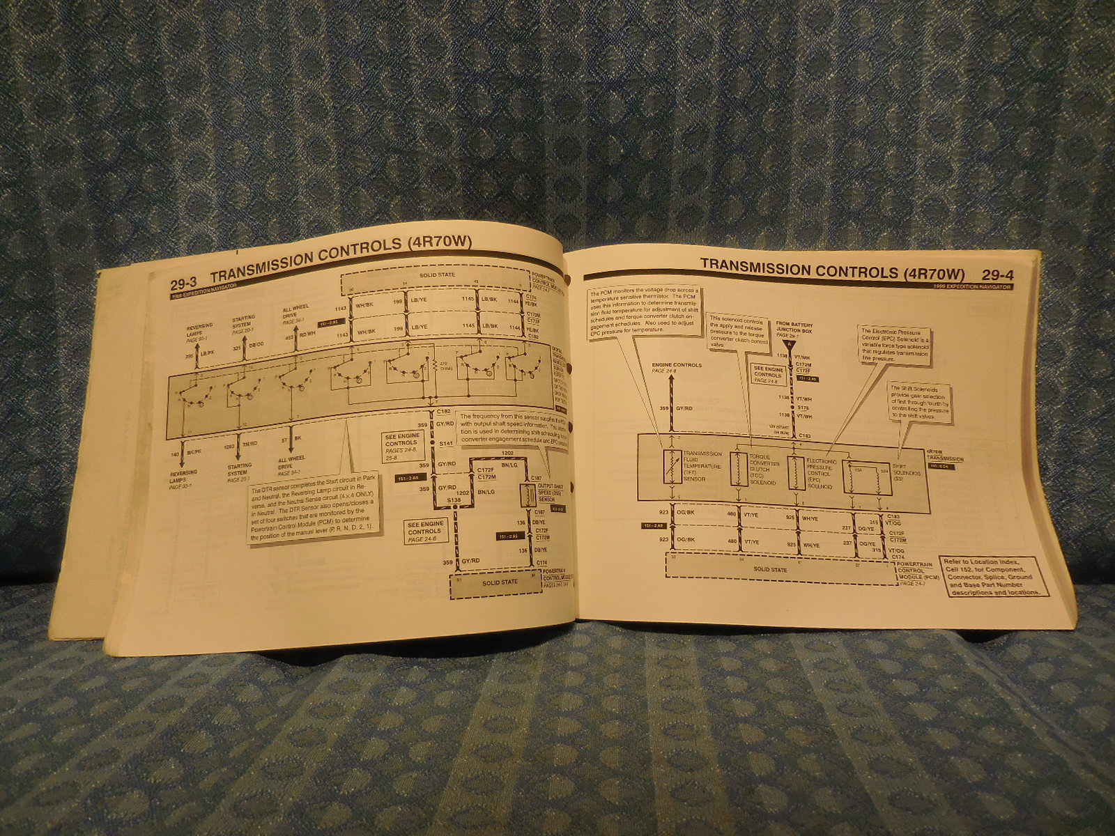 1999 Ford Expedition Lincoln Navigator Original Oem Shop Wiring Diagrams Manual