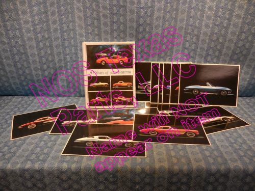 1953-1983 Corvette Set of 13 Laser Print Cards By Impact 56 57 61 63 66 68 73 75