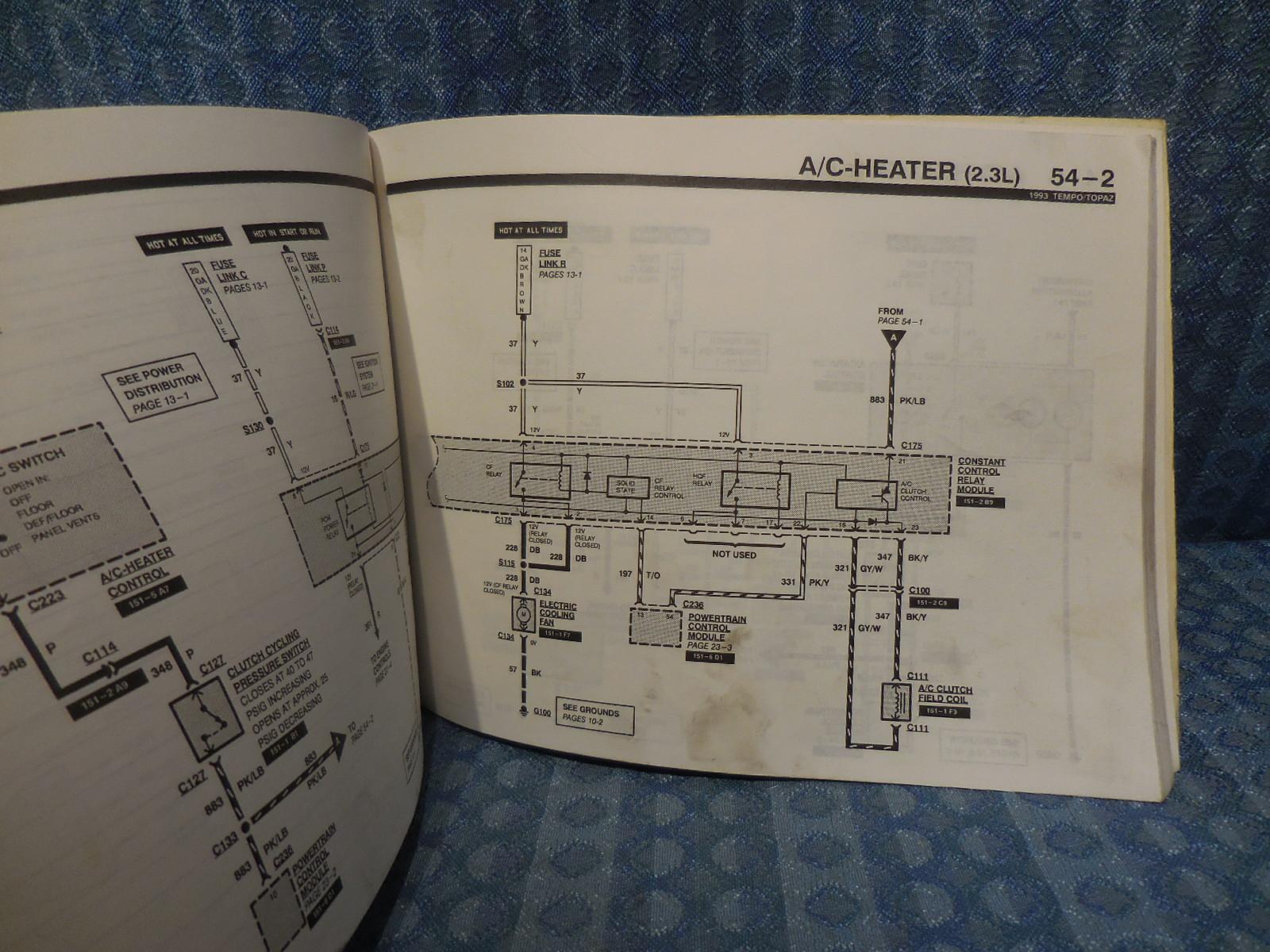 1993 Ford Tempo Fuse Box Car Wiring Diagram