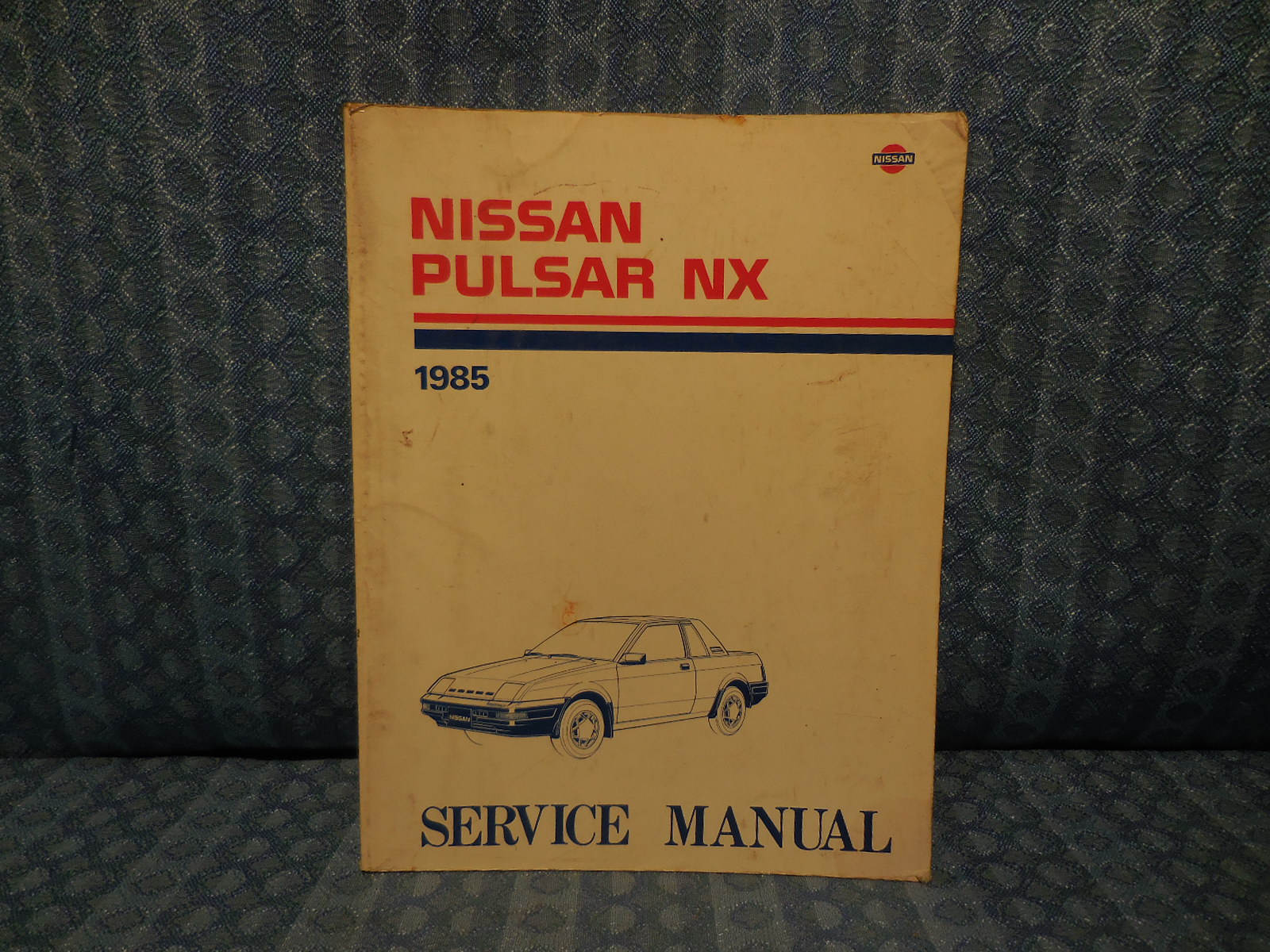 Original OEM Shop Service Manual Covers 1985 Nissan Pulsar NX