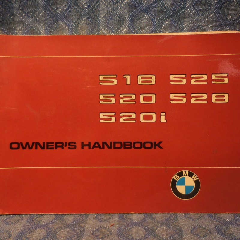 1976-1978 BMW 518 520 520i 525 528 Original Owners Manual Handbook English 1977
