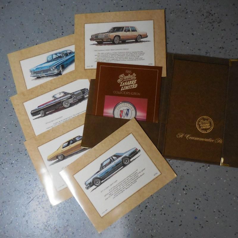 1985 Buick LeSabre Collectors Edition Original History & Sales Brochure Package