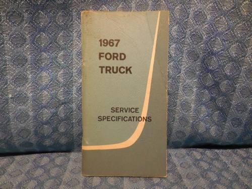 1967 Ford Truck Original Service Specifications Book Light Medium & Heavy Duty