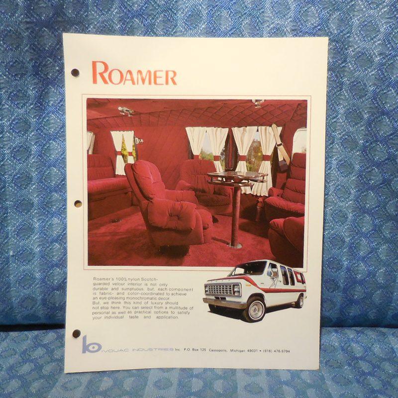 1979 Ford Conversion Van Original Sales Flyer Roamer by Bivouac Industries