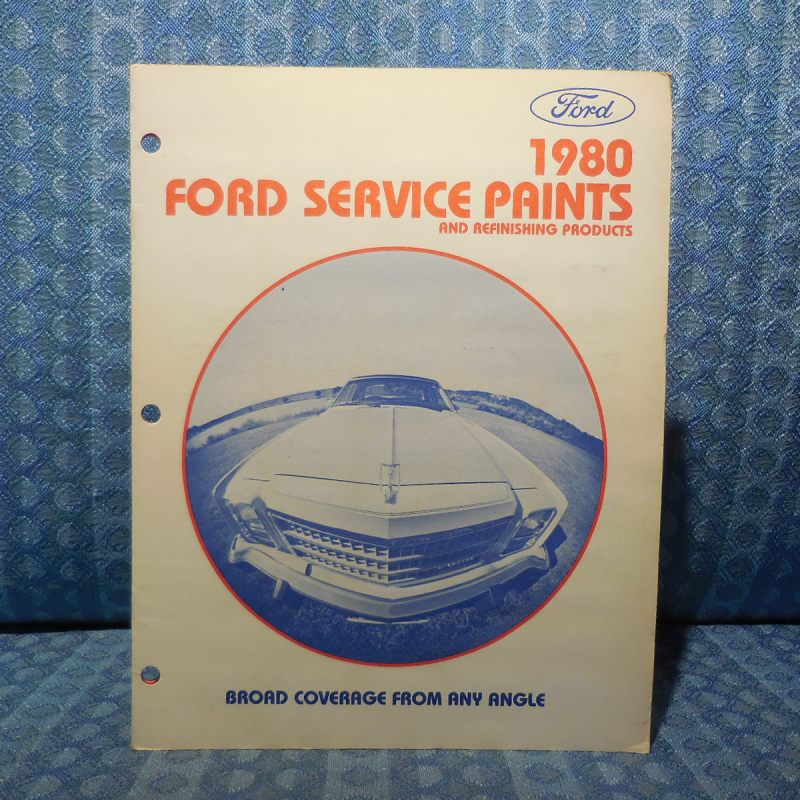 1980 Ford Lincoln Mercury OEM Paint Chip Color Chart Mustang Continental Cougar