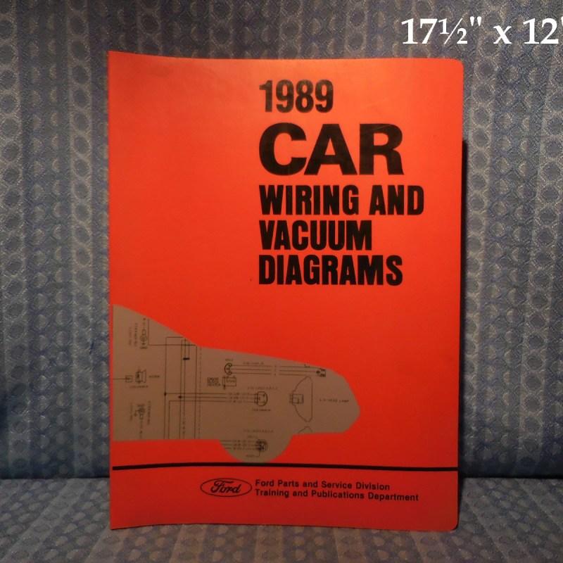 1989 Ford Lincoln Mercury OEM Wiring & Vacuum Diagrams Mark VII Mustang Marquis