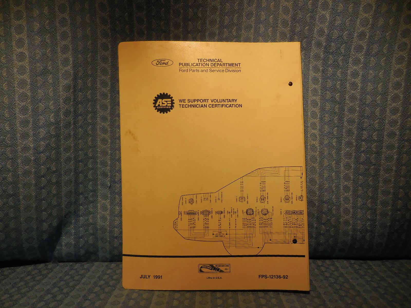 92 Cougar Wiring Diagram Electrical Diagrams 1991 Mercury 1992 Ford Lincoln Oem Vacuum Mark Vii Coil
